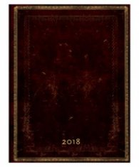 Paperblanks 2018 Black Moroccan Diary Horizontal, Ultra, Lined/ 42709