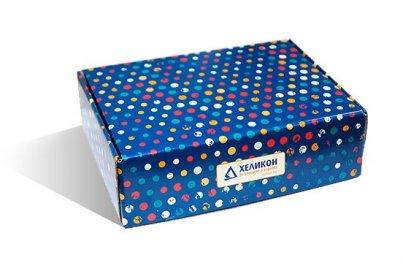 Кутия за подарък голяма синя 320/235/75
