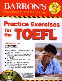 Barron's Practice exercises for the TOEFL wih audio CDs