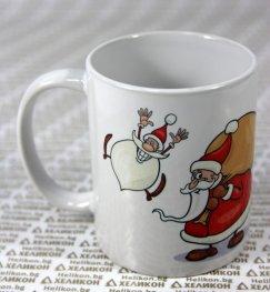 Коледна чаша Дядо Коледа с чувал
