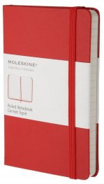 Бележник Moleskine Classic Red Notebook, Ruled Pocket [Journal] [0000]