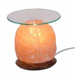 Арома-лампа от хималайска сол 1,5 кг с дървена основа