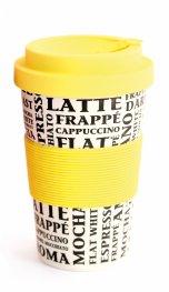 Бамбукова чаша Фолиум 400мл. Жълта