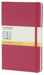 Бележник Moleskine Classic Hard Cover Large Squared Notebook Magenta [6460]