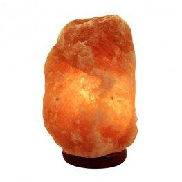Лампа от хималайска сол 1,5-2 кг с дървена основа