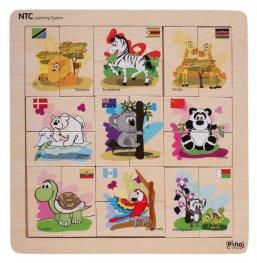 Toys Pino NTC асоциотивна игра Животни 4Р007А